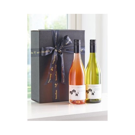 Wine Duo Rose And White Gift Box Perth Flowers