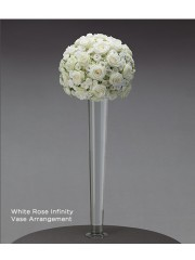 White Rose Infinity Vase Arrangement