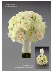 Cream Rose Flower Girl Pomander